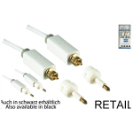 DINIC Toslink to Toshlink (5.0m) cable with Mini Toslink Adapter - White