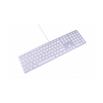 LMP Apple Style USB Keyboard with numeric keypad english UK (QWERTY)