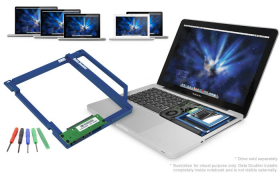 """OWC Data Doubler Optical to 2.5"""" SATA Drive Converter Bracket Solution for MacBook and MacBook Pro"""