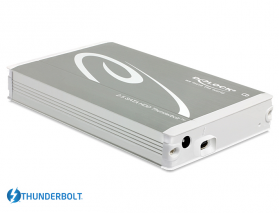 "DeLock, External Enclosure ONLY, Thunderbolt, Portable 2,5"" SATAIII (up to 15mm HDD and SSD) Silver"